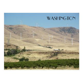 Cartão Postal Viagem dos vinhedos do estado de Washington