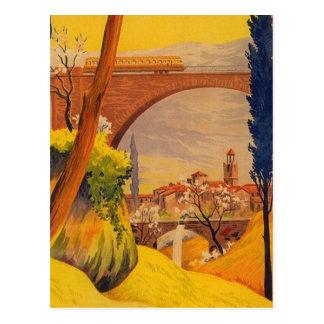 Cartão Postal Viagem francês da estrada de ferro do vintage