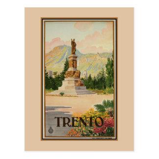 Cartão Postal Viagem italiano de Trento Trent do vintage