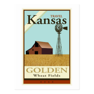 Cartão Postal Viagem Kansas