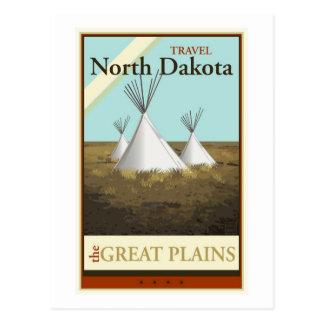 Cartão Postal Viagem North Dakota