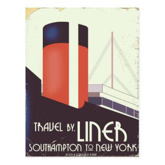 Cartão Postal Viagem pelo forro - poster das viagens vintage