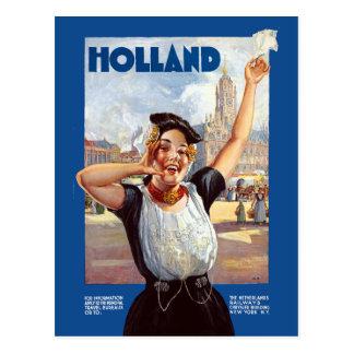 Cartão Postal Viagem Railway holandês de Holland do vintage