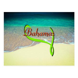 Cartão Postal Viagem tropical da praia