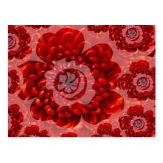 Cartão Postal Viagem vermelha da flor - mundo do culto da