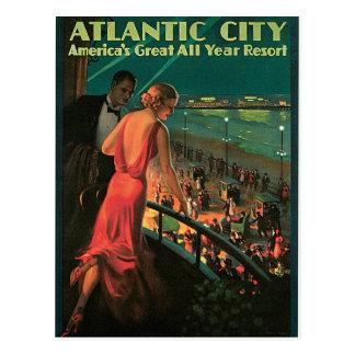 Cartão Postal Viagens vintage de Atlantic City New-jersey