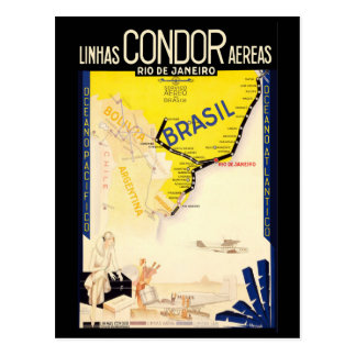 """Cartão Postal Viagens vintage de """"Brasil"""""""