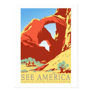 Cartão Postal Viagens vintage de Colorado co do parque nacional