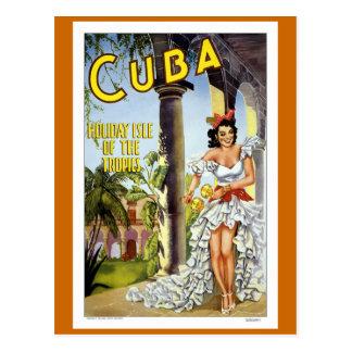 Cartão Postal Viagens vintage de Cuba