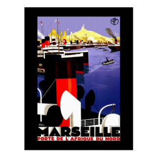 Cartão Postal Viagens vintage de Marselha, France