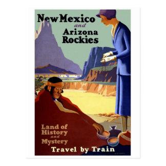 Cartão Postal Viagens vintage de Montanhas Rochosas de New