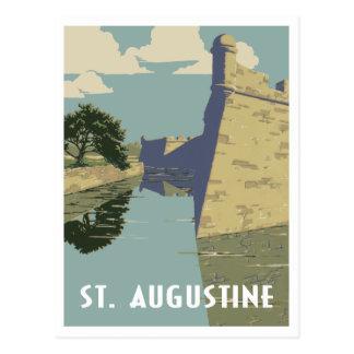 Cartão Postal Viagens vintage de St Augustine Florida