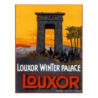 Cartão Postal Viagens vintage, palácio do inverno de Louxor,
