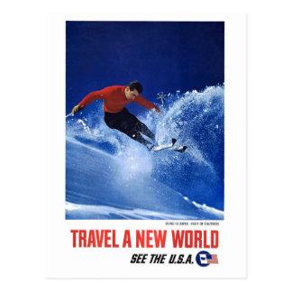 Cartão Postal Viaja um mundo novo - veja os EUA