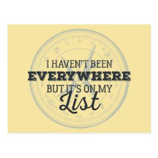 Cartão Postal Viajam mais citações inspiradores do selo do