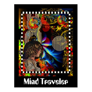 Cartão Postal Viajante da mente