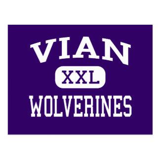 Cartão Postal Vian - Wolverines - segundo grau - Vian Oklahoma