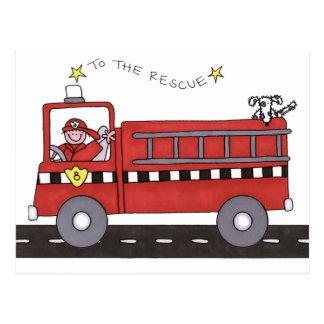 Cartão Postal Viatura de incêndio