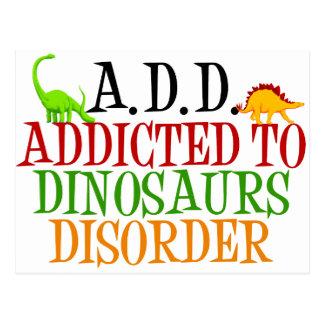 Cartão Postal Viciado à desordem dos dinossauros
