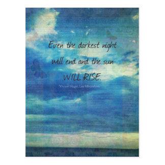 Cartão Postal Victor Hugo, citações de Les Miserables inspiradas