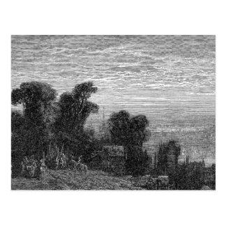Cartão Postal Victorian Londres - charneca de Hampstead