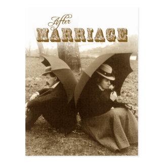 Cartão Postal Vida APÓS o casamento