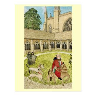 Cartão Postal Vida cloist da catedral de Inglaterra alegre,