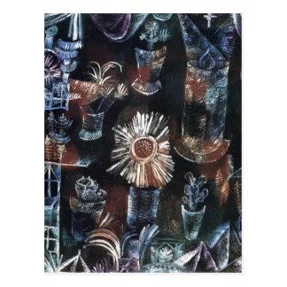 Cartão Postal Vida de Paul Klee- ainda com flor do cardo