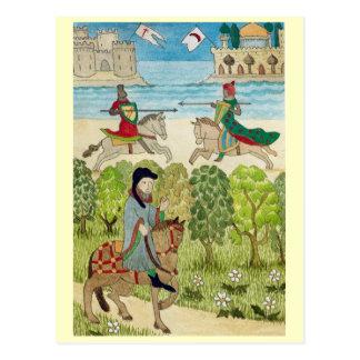 Cartão Postal Vida em Inglaterra alegre, cena da vida medieval