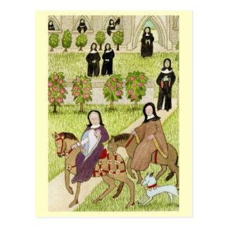 Cartão Postal Vida em Inglaterra alegre, freiras