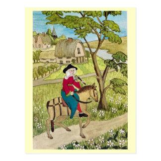 Cartão Postal Vida em Inglaterra alegre, montando através de uma