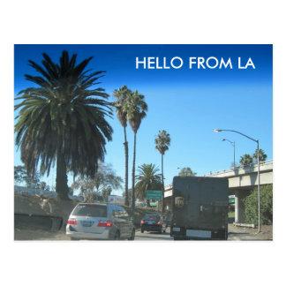 Cartão Postal Vida na autoestrada de Los Angeles