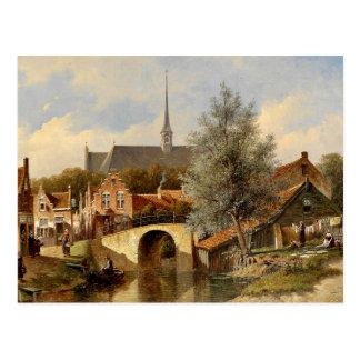 Cartão Postal Vida quotidiana no Edam - Petrus Gerardus Vertin