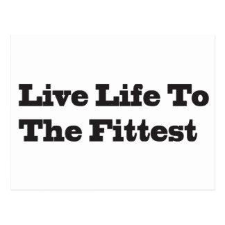 Cartão Postal Vida viva ao mais apto