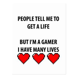 Cartão Postal Vidas do Gamer