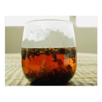 Cartão Postal Vidro do chá chinês