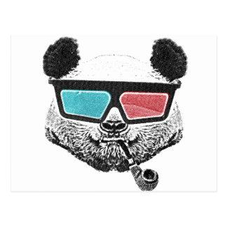 Cartão Postal Vidros 3-D da panda do vintage