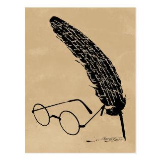 Cartão Postal Vidros e Quill de Harry Potter  