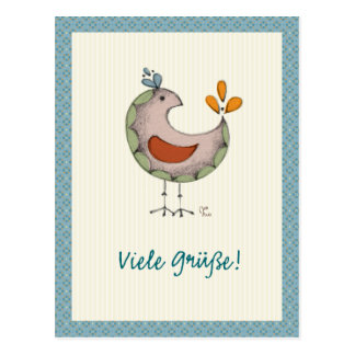 Cartão Postal Viele Grüße!