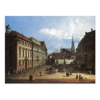 Cartão Postal Viena, o Lobkowitzplatz por Bernardo Bellotto