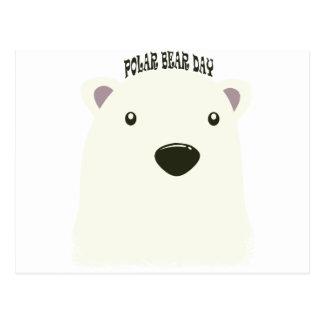 Cartão Postal Vigésimo sétimo fevereiro - dia do urso polar