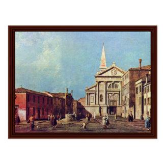 Cartão Postal Vigna. do IL Campo E La Chiesa Di San Francesco