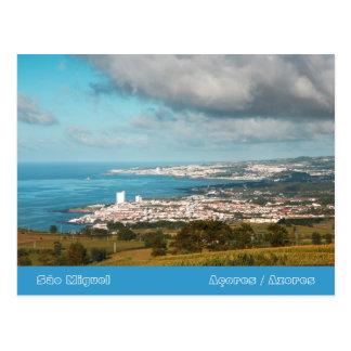 Cartão Postal Vila a Dinamarca Lagoa - Açores