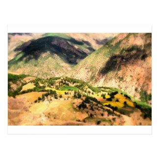 Cartão Postal Vila curdo em Plato alto
