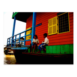 Cartão Postal Vila de flutuação de Cambodia