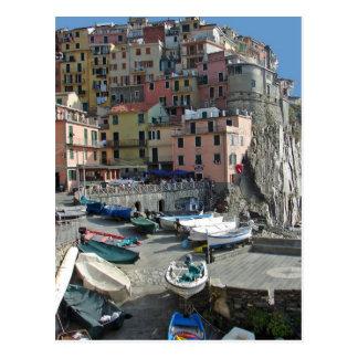 Cartão Postal Vila Italia Cinque Terre de Riomaggiore