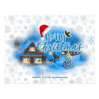 Cartão Postal Vila mágica do Natal