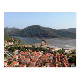 Cartão Postal vila típica em CROATIA