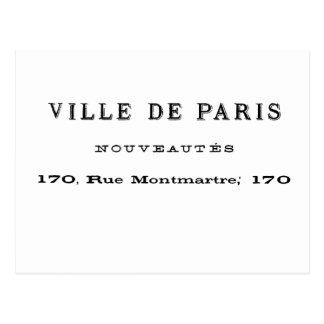 Cartão Postal Ville De Paris Nouveautes