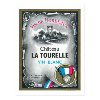 Cartão Postal Vin De Bordéus Vinho LabelEurope